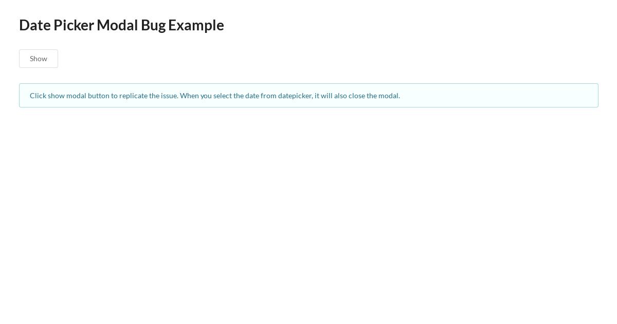 Semantic UI React with React-Datepicker Issue - CodeSandbox