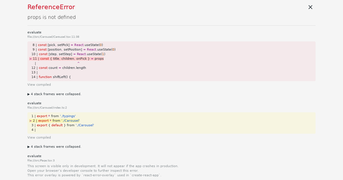 simple carousel in react (richard) - CodeSandbox