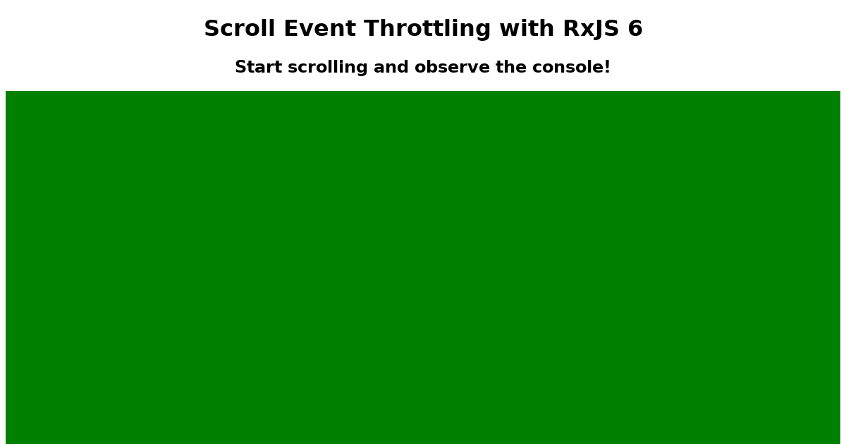 Throttling RxJS 6 - CodeSandbox