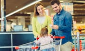 Which supermarket was cheapest during February 2017?