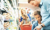 Which supermarket was cheapest during April 2017?