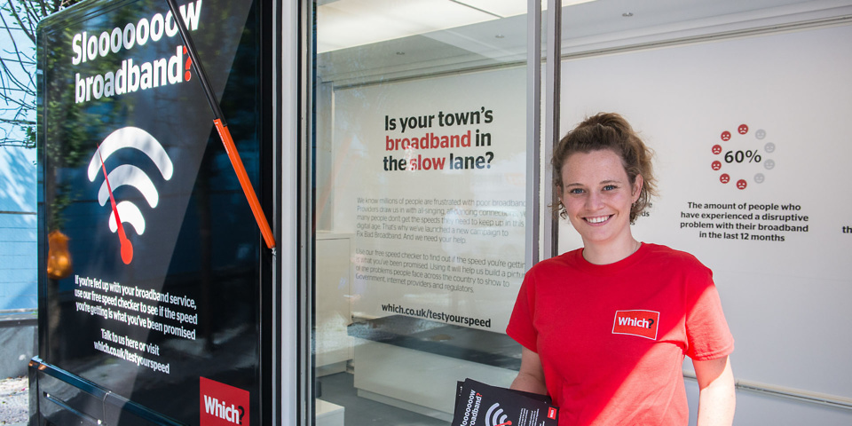 Which? campaign to Fix Bad Broadband hits the road
