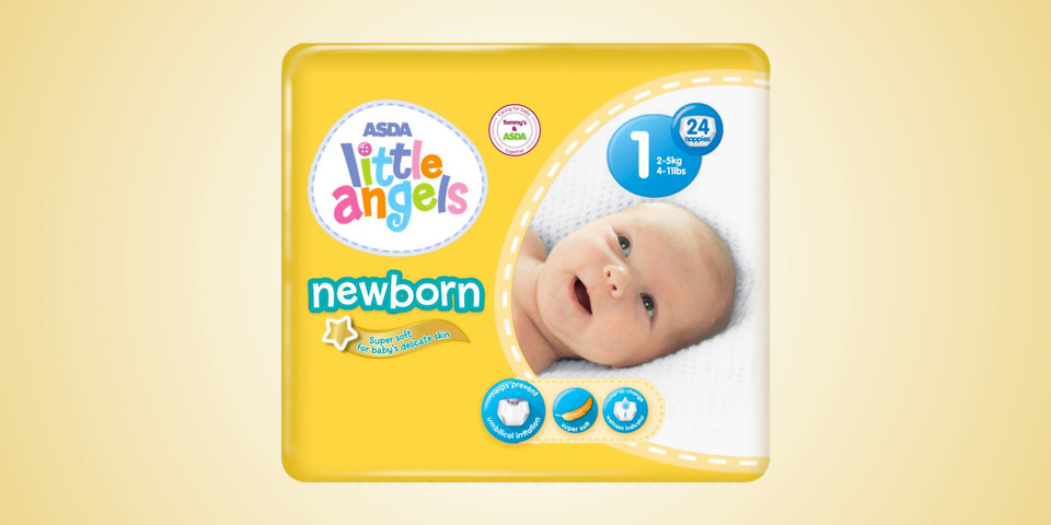 Asda withdraws Little Angel Newborn nappies after father says his baby had 'chemical reaction'