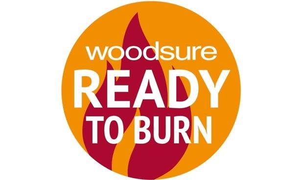 Woodsure wood logs logo