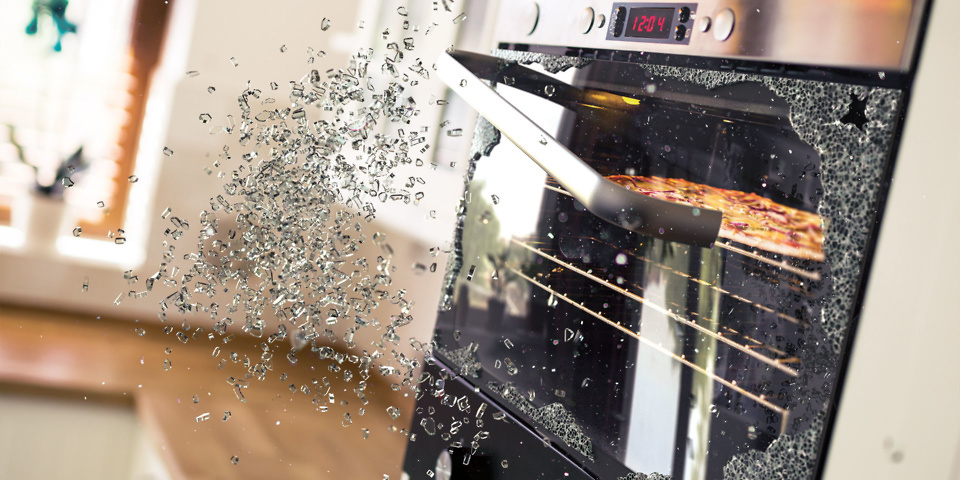 Exploding ovens: why glass doors shatter and what to do it if happens to you
