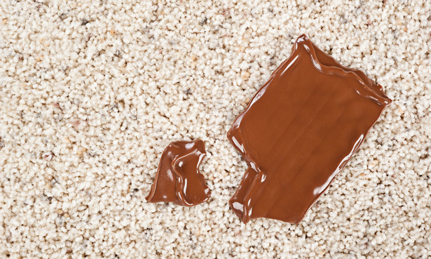Chocolate stain on carpet
