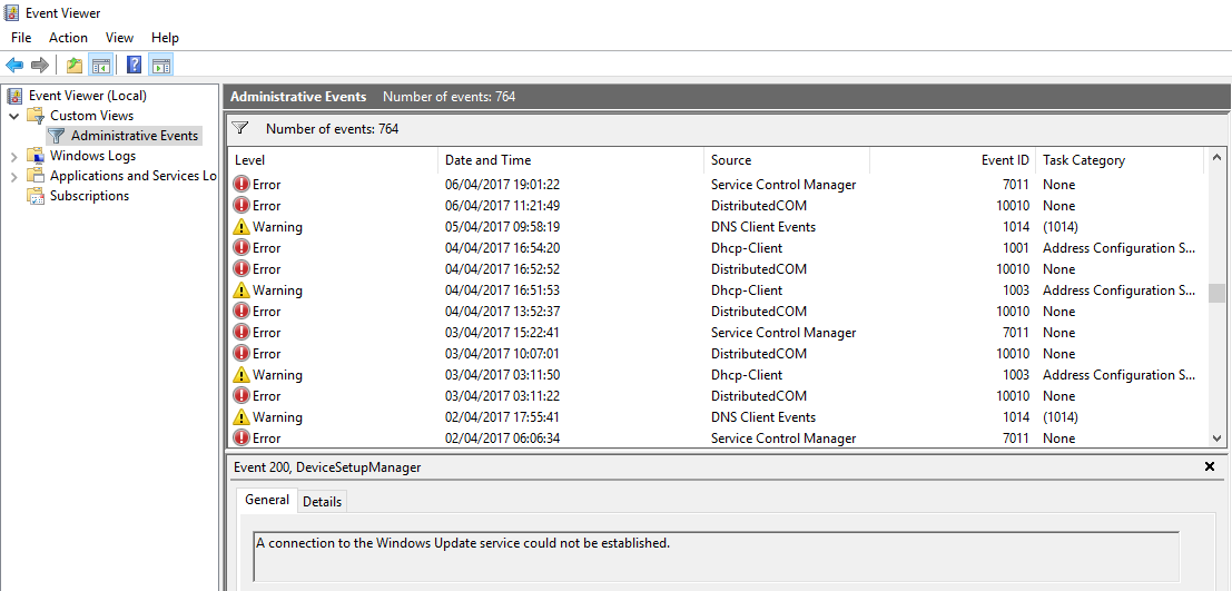 Scam Calls Event Viewer
