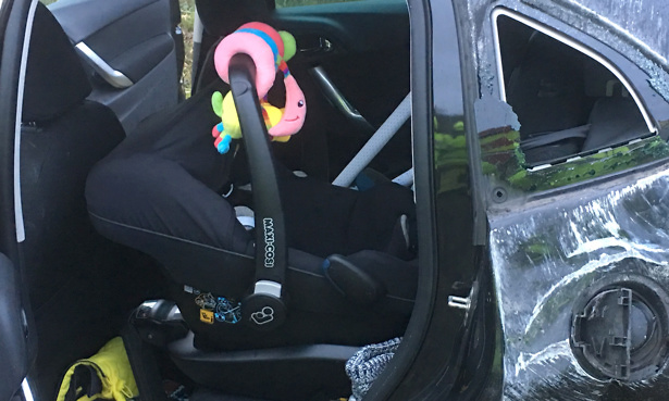 car seat, car crash, Maxi-Cosi