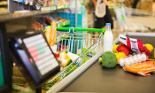 Which supermarket was cheapest in February 2018?