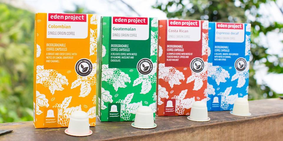 Eden Project launches eco-friendly Nespresso pods