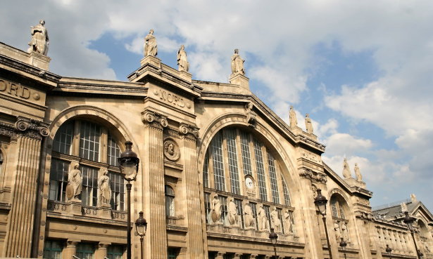 Outside Gare du Nord in Paris, France