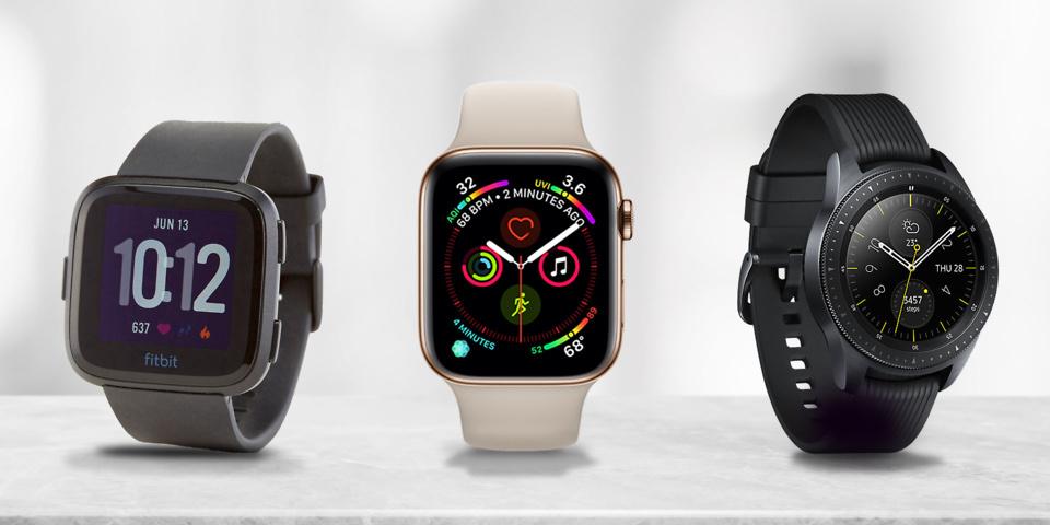 Apple Watch Series 4 vs Fitbit Versa vs Samsung Galaxy Watch