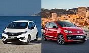 Honda Jazz and VW Up! GTI: family car favourites vs sporty alternatives