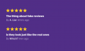 The facts about fake reviews