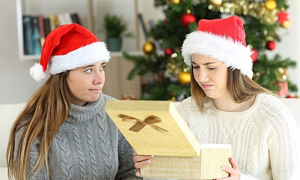 Sister getting unwanted Christmas gift