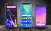 Google vs Huawei vs OnePlus: premium smartphones face off