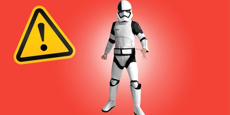 Does your child own this flammable Star Wars outfit?