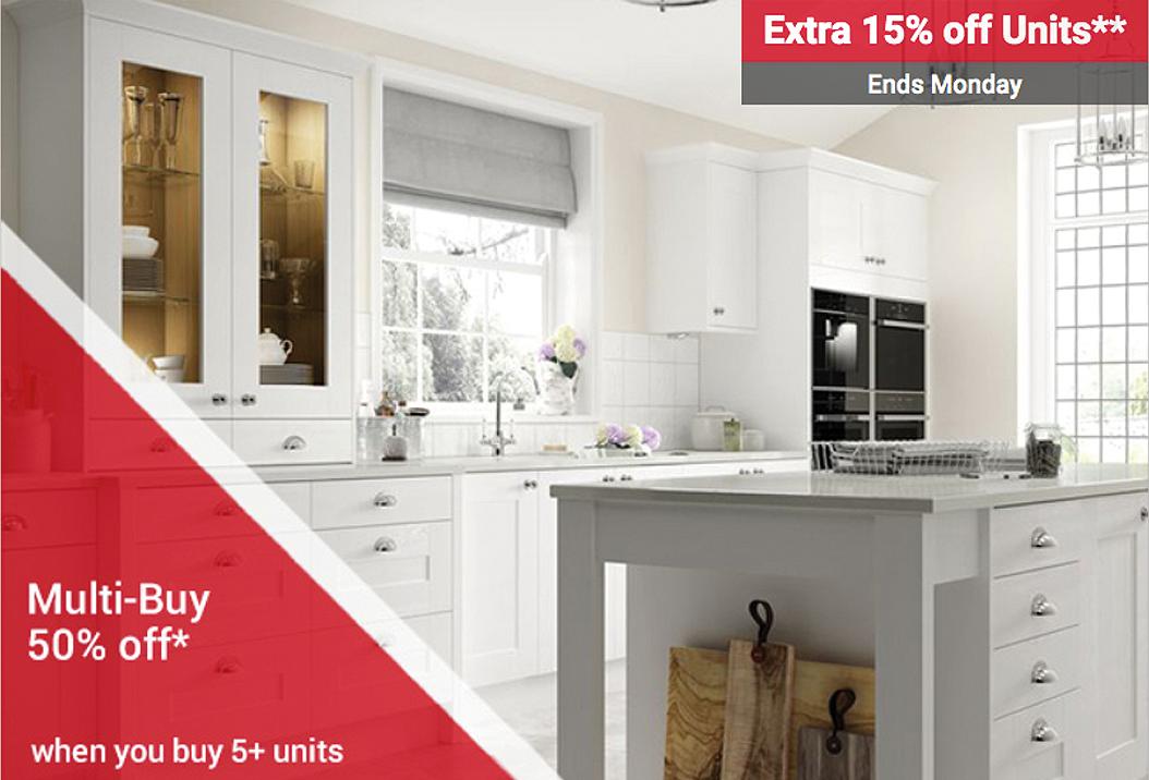 50% off multi-buy offer on Wickes website