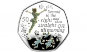 Rare Peter Pan 50p coins launched for charity