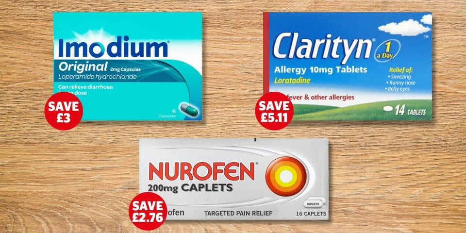 Revealed: cheapest places to buy popular medicines