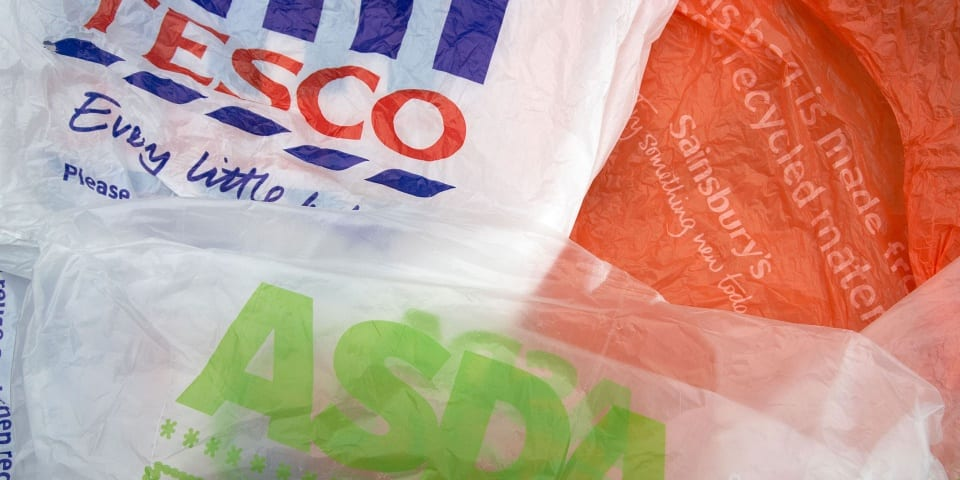 Tesco and Iceland's crackdown on supermarket plastic bags