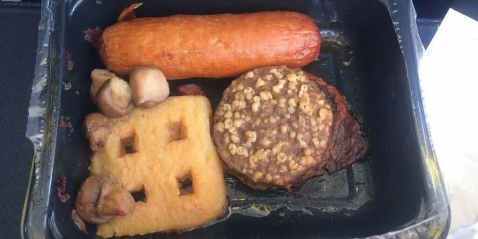 Plane awful: The worst airline meals revealed