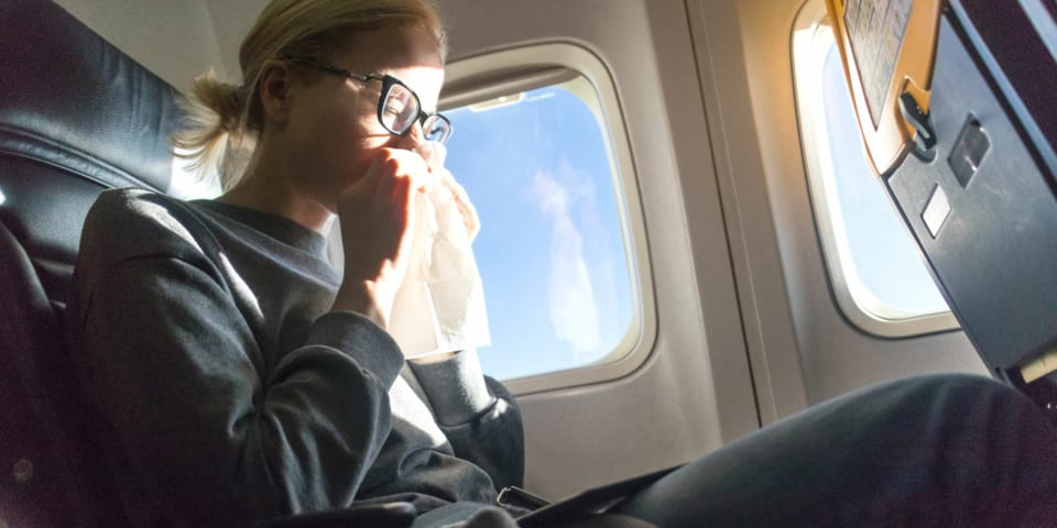 Filthy flights: Increased risk of illness on planes