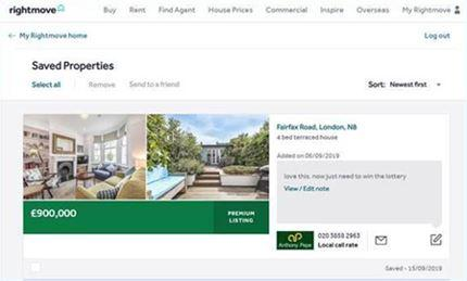 Rightmove notes tool