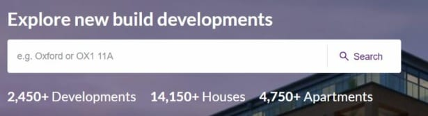 Zoopla new build finder