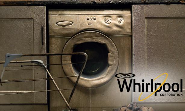 A defunct washing machine