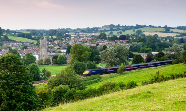 Image of the town of Bruton, Somerset