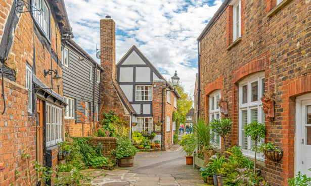 Tudor-style houses in Horsham