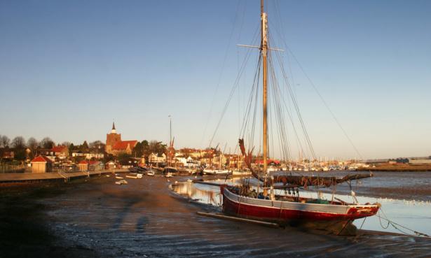 Ships moored in Maldon