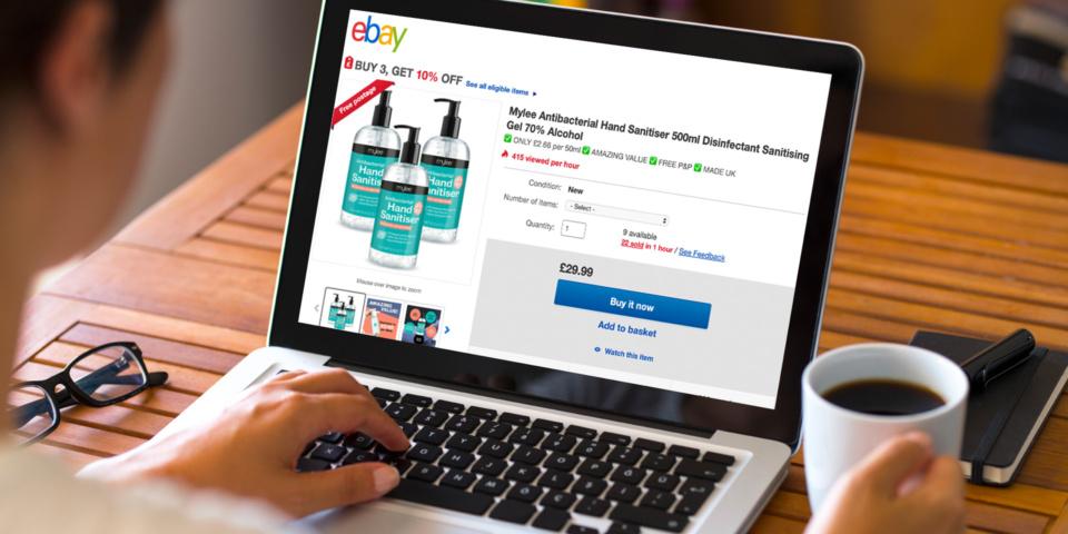 eBay and Amazon failing to prevent sellers profiteering during coronavirus crisis