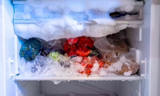 Ice built-up inside freezer