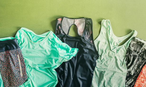 Several items of sports kit laid flat