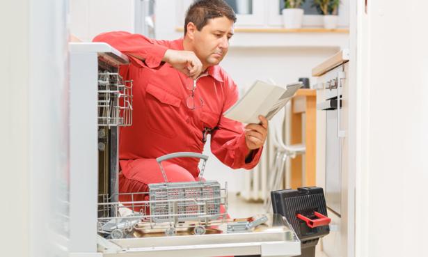 Reading dishwasher manual for repair
