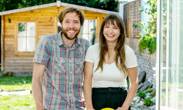 Lidia Szmid and her fiancé Adam Burton