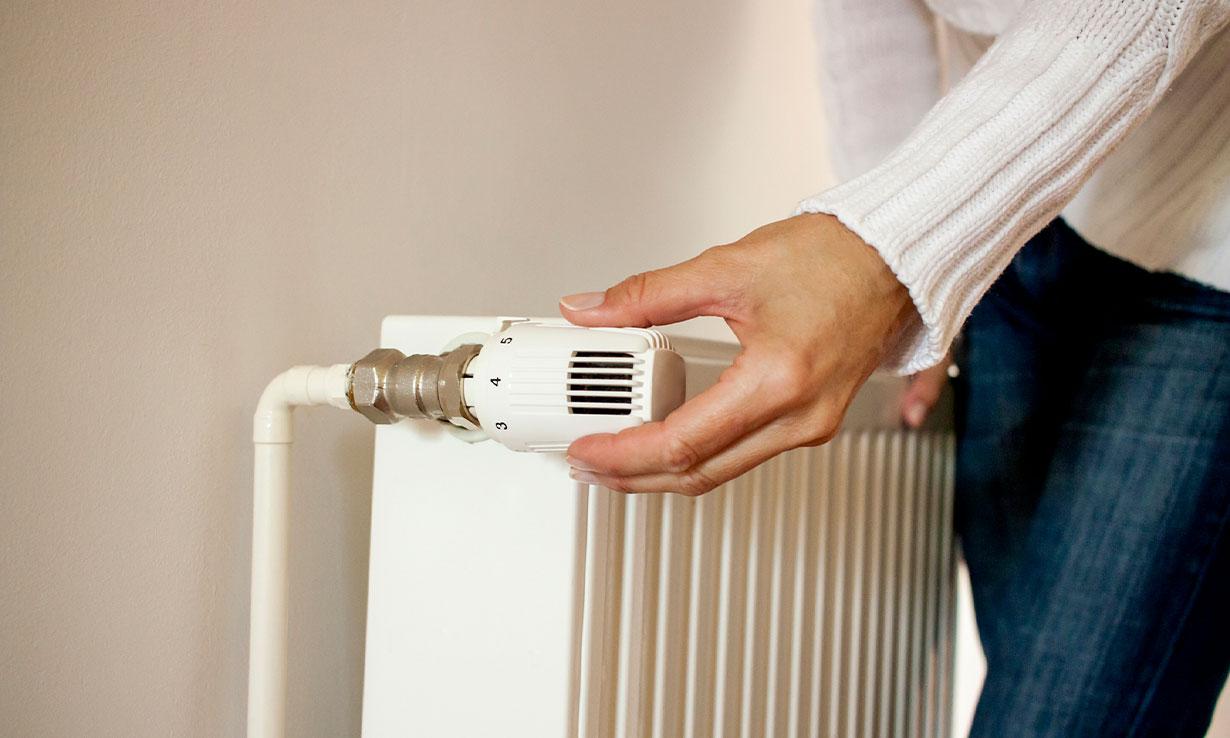 turning on the radiator