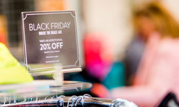 Black Friday 20% off sign