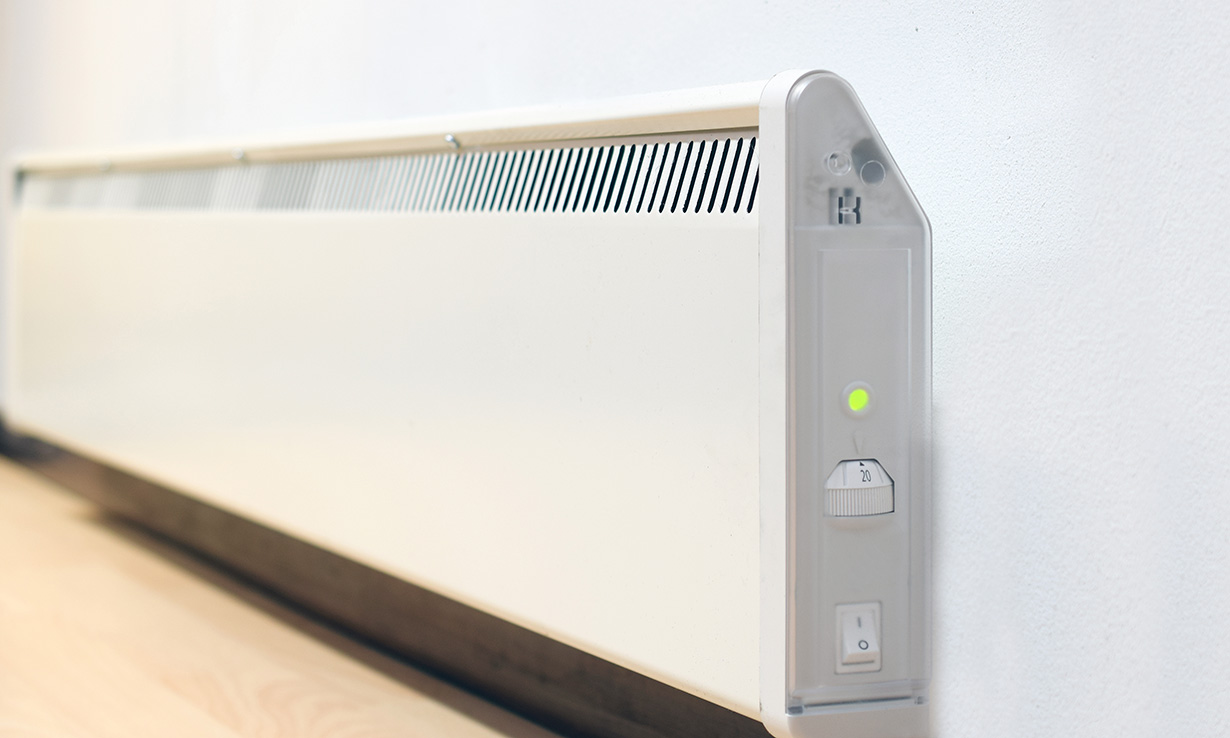 wall-mounted electric heater
