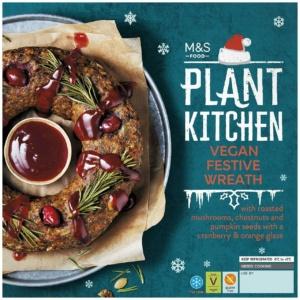 M&S Plant Kitchen vegan festive wreath