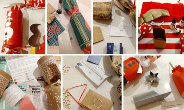 Conrtents of Christmas crackers we tested
