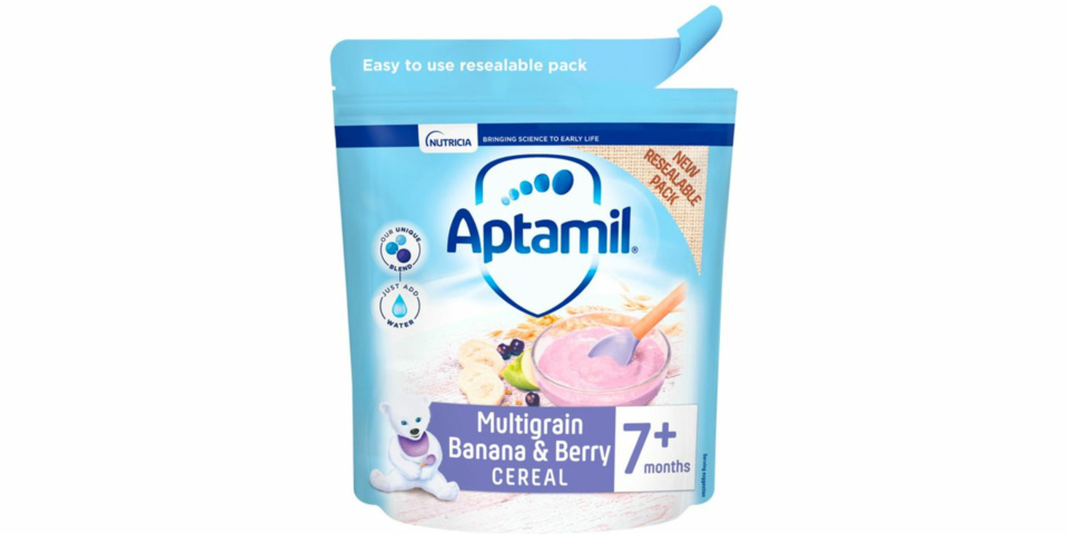Product recall: batch of Aptamil baby cereal may contain plastic