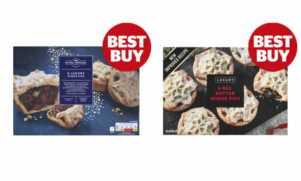 Asda and Iceland mince pies