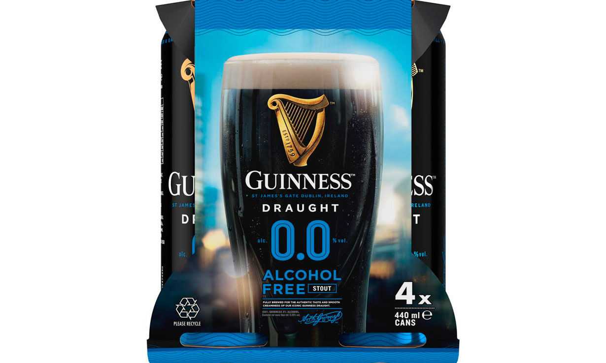 A four pack of Guinness 0.0 cans