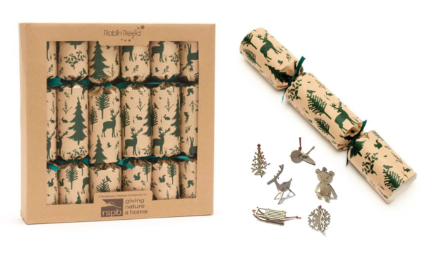 RSPB Woodland recycled crackers, £13