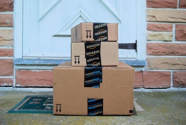 parcels on doorstep