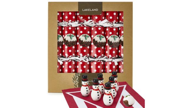 Lakeland Snowman Bowling Crackers, £20