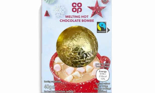 Co-op hot chocolate bomb